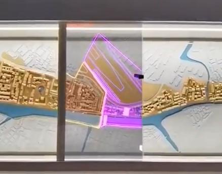 55寸透明oled滑轨屏-苏州实验中学