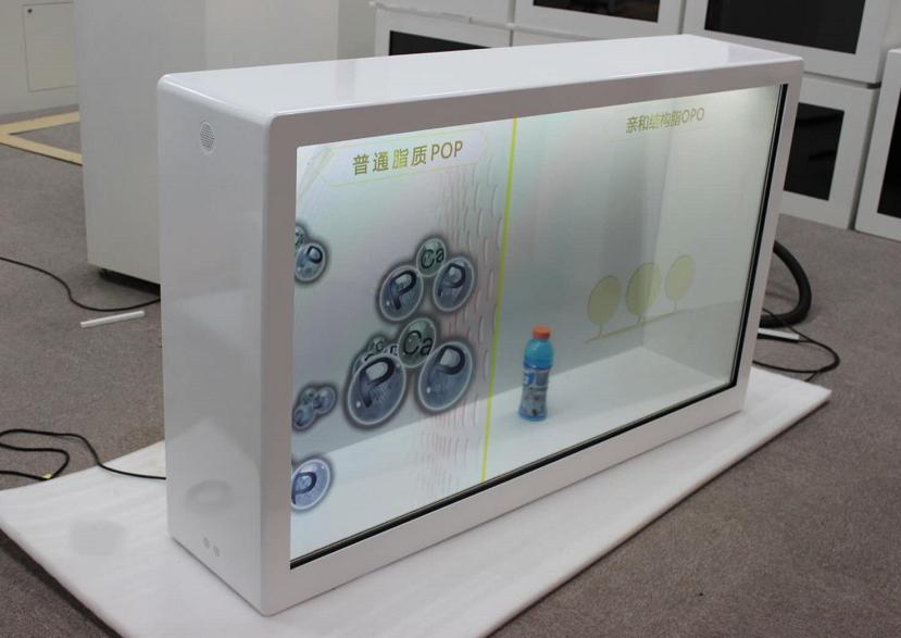 65寸透明液晶展示柜