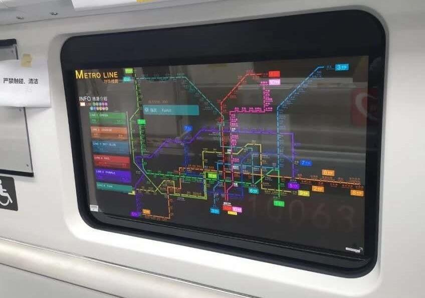 透明oled-北京地铁
