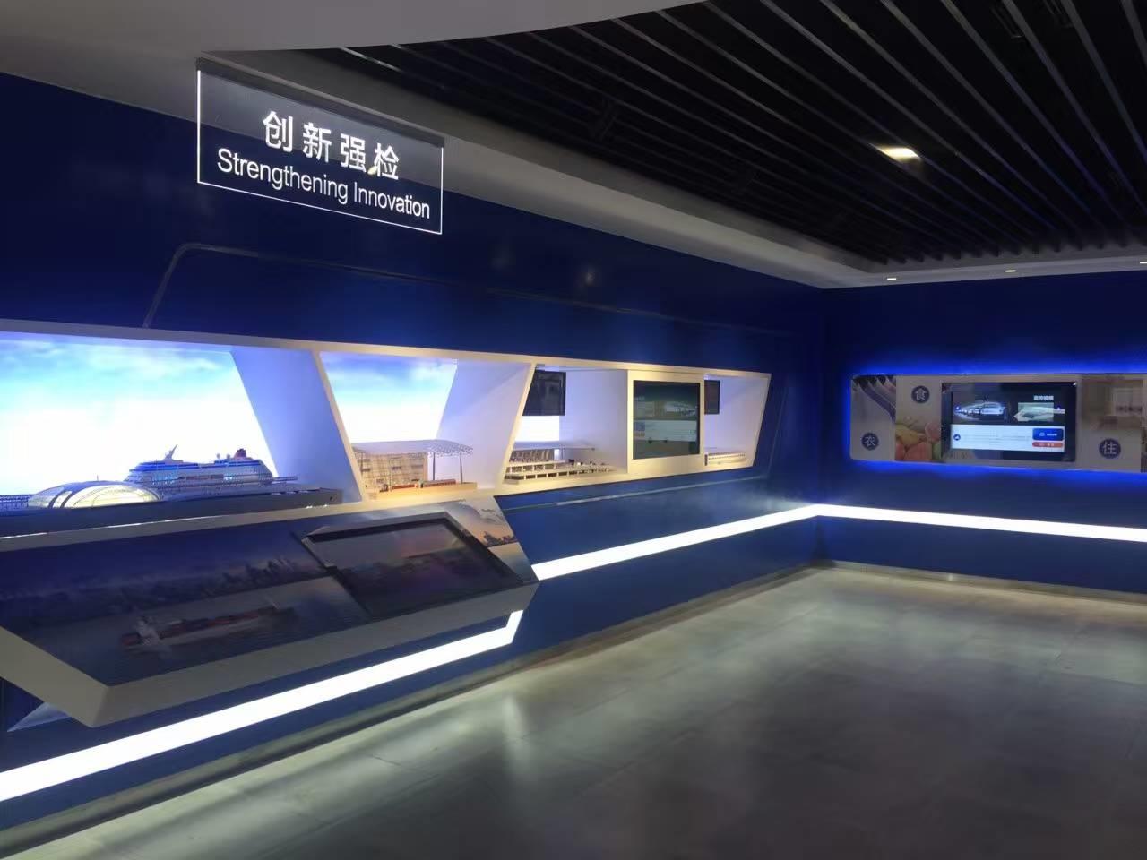 46寸透明屏展示柜-上海检疫局