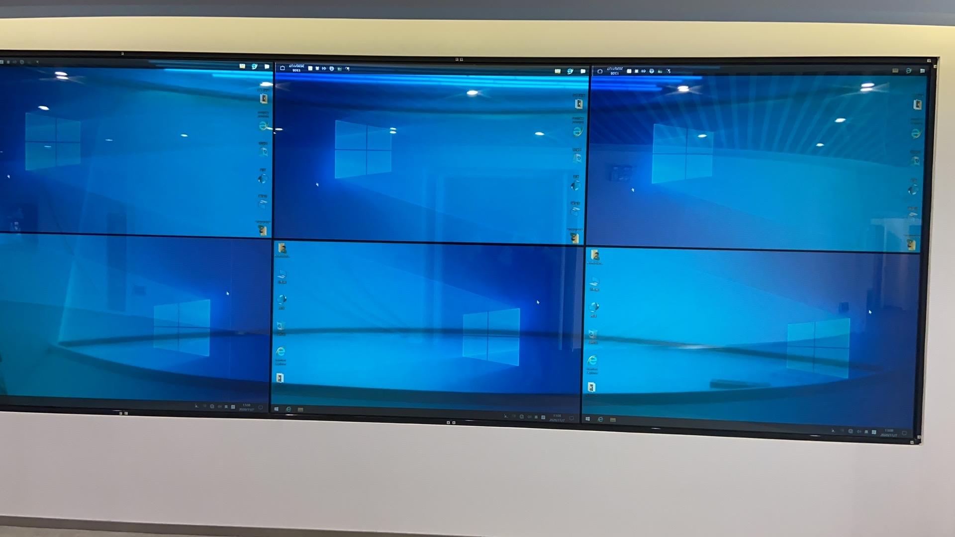 75寸2X3透明液晶拼接屏